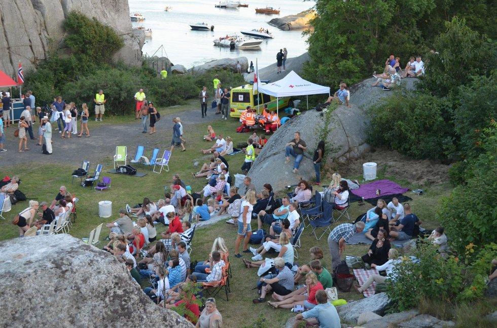 Det var folksomt på Kjerringvikfestivalen hele lørdag ettermiddag.