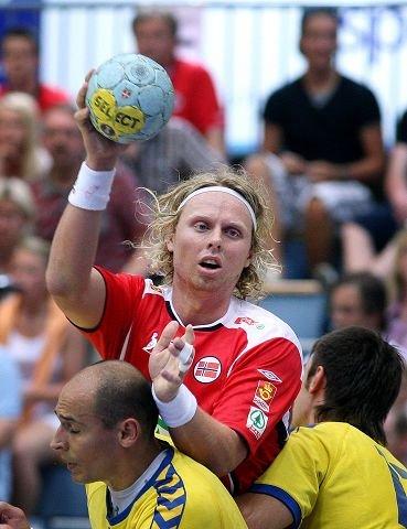 HÅNDBALLHELT: Erlend Mamelund, Haslum Håndballklubb og landslaget. Foto: Karl Braanaas