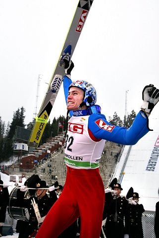 OLYMPISK HOPPMESTER: Lars Bystøl, medalje i samtlige hoppkonkurranser under Torino-OL i 2006, inkludert gull i liten bakke. Foto: Knut Bjerke