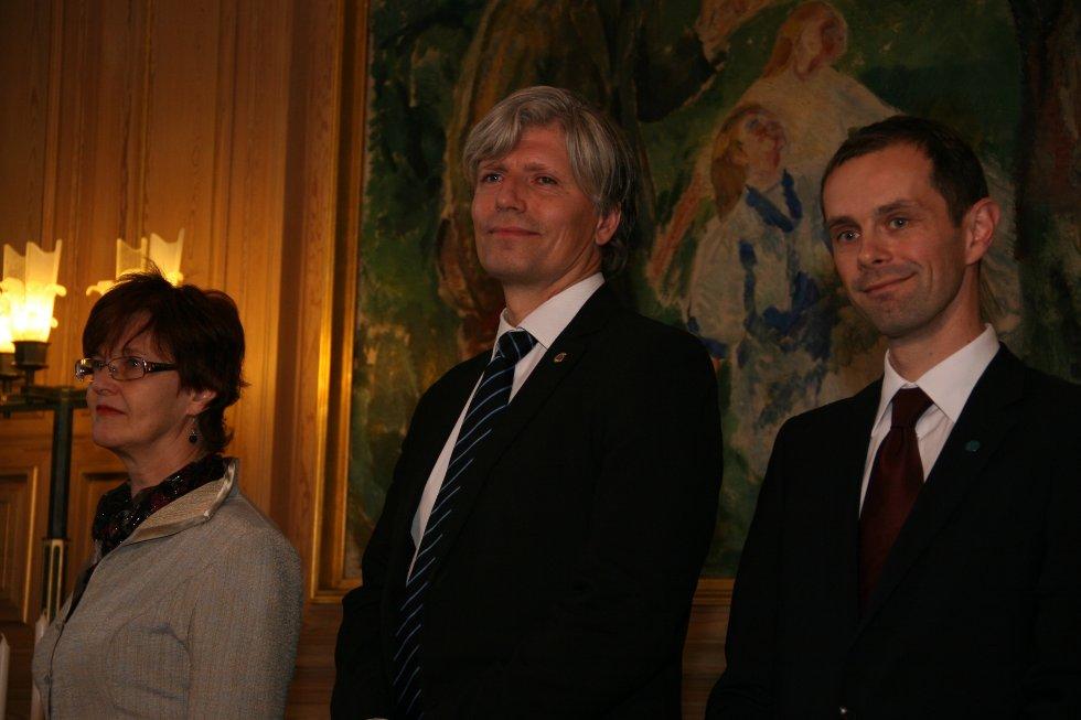 Aud Kvalbein, Ola Elvestuen og Hallstein Bjercke er alle nye i byrådet.