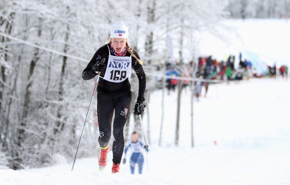 FIN FLYT: Heming-løper Tuva Toftdahl Staver gikk et godt løp i Sørkedalen søndag. 21-åringen vant seniorklassen i Lauritz Bergendahls minneløp.