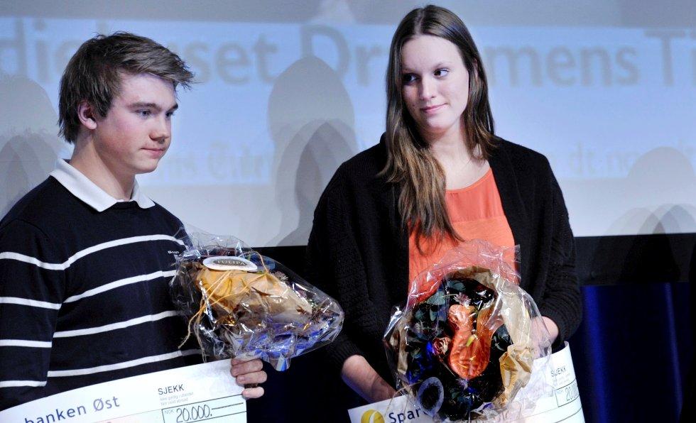 Andreas F. Gjesteby og Stine Grønvold Stenseth fikk idrettsstipend.