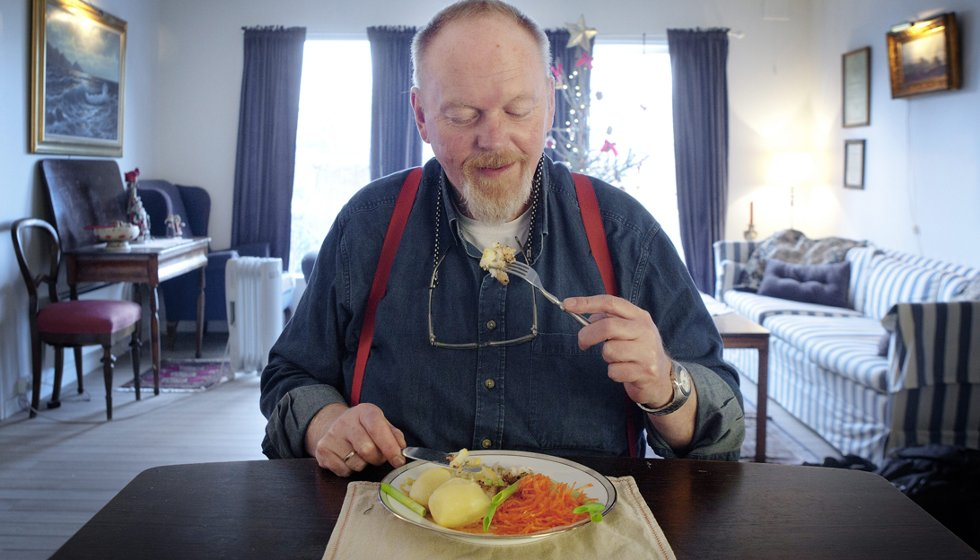 Trond Steine har lært seg å lage sunne, slankende middager.