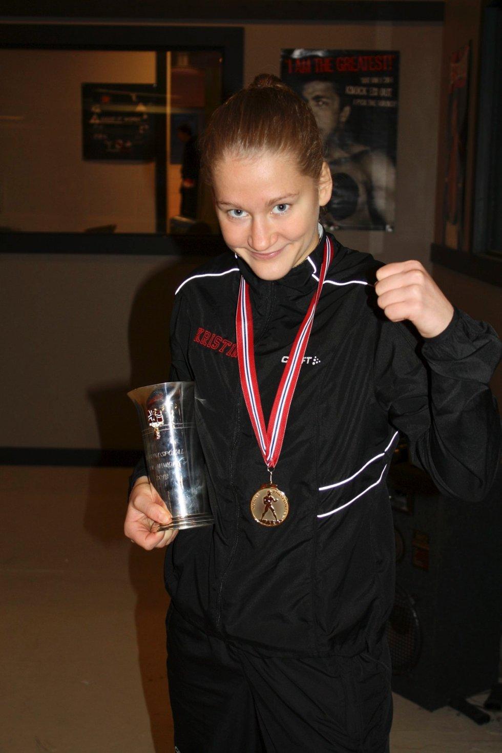 Kristin Ulvund ble kåret til NMs beste bokser.