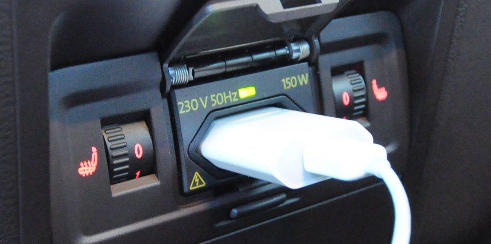 Kjekt at bilen kan leveres med 230 volt strømuttak.