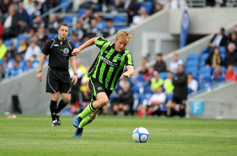 ute: FA-cup-eventyret endte på Anfield for Torbjørn Agdestein og hans klubb Brighton & Hove Albion. De tapte 6–1 for Liverpool. Arkivfoto: The Argus