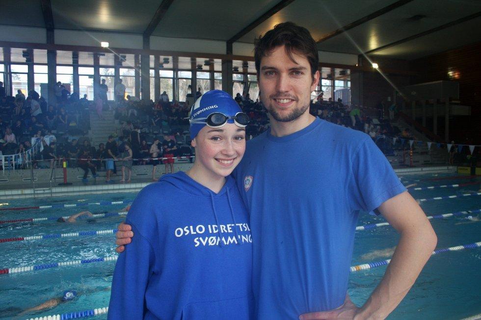 STORT TALENT: Rebekah Dawson(15) drømmer om å svømme i OL Trener Marcel Mendritzki har også stor tro på talentet