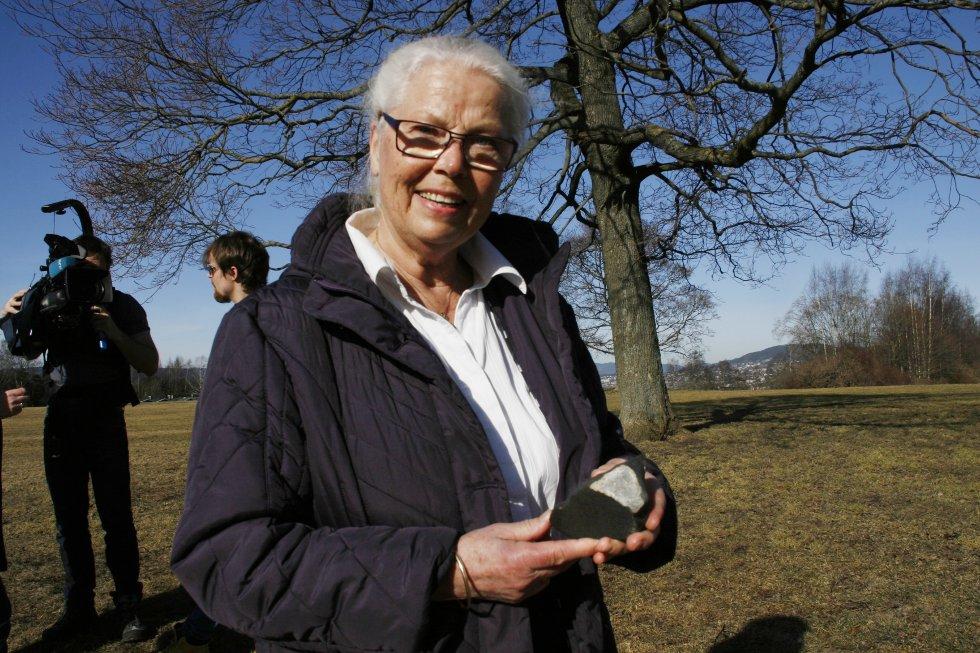 Meteoritten kunne ikke truffet bedre. Finneren Liv Kibsgaard er nemlig lidenskapelig engasjert i nettopp meteoritter.