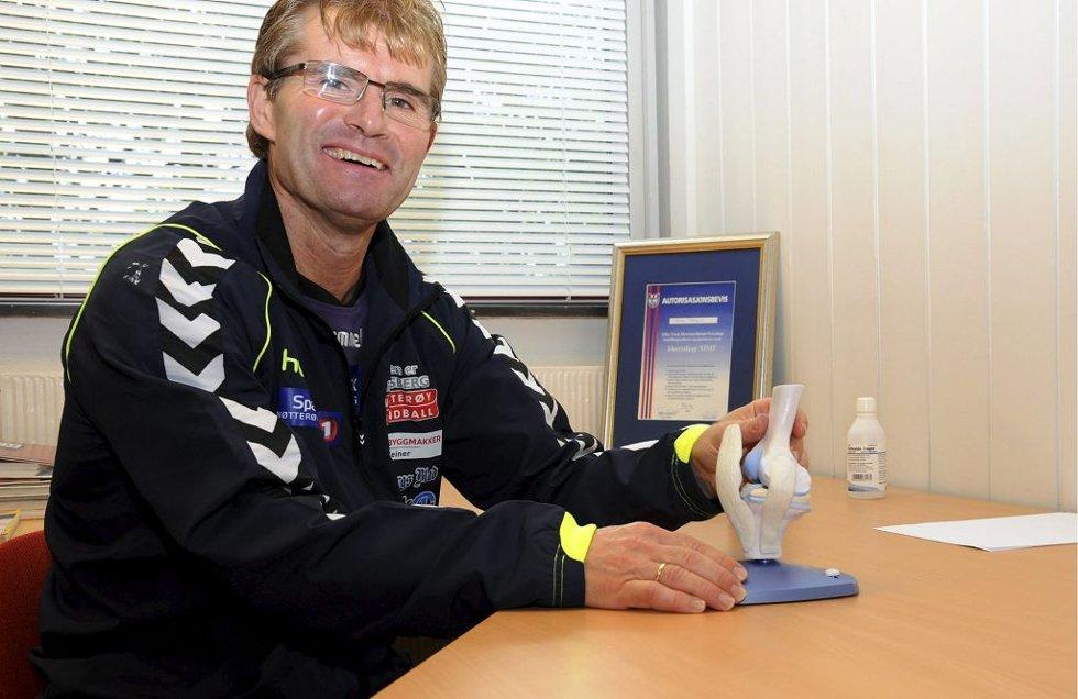Frode Prøsch har lang erfaring med behandling av idrettsrelaterte skader. Foto: Sven-Erik Syrstad