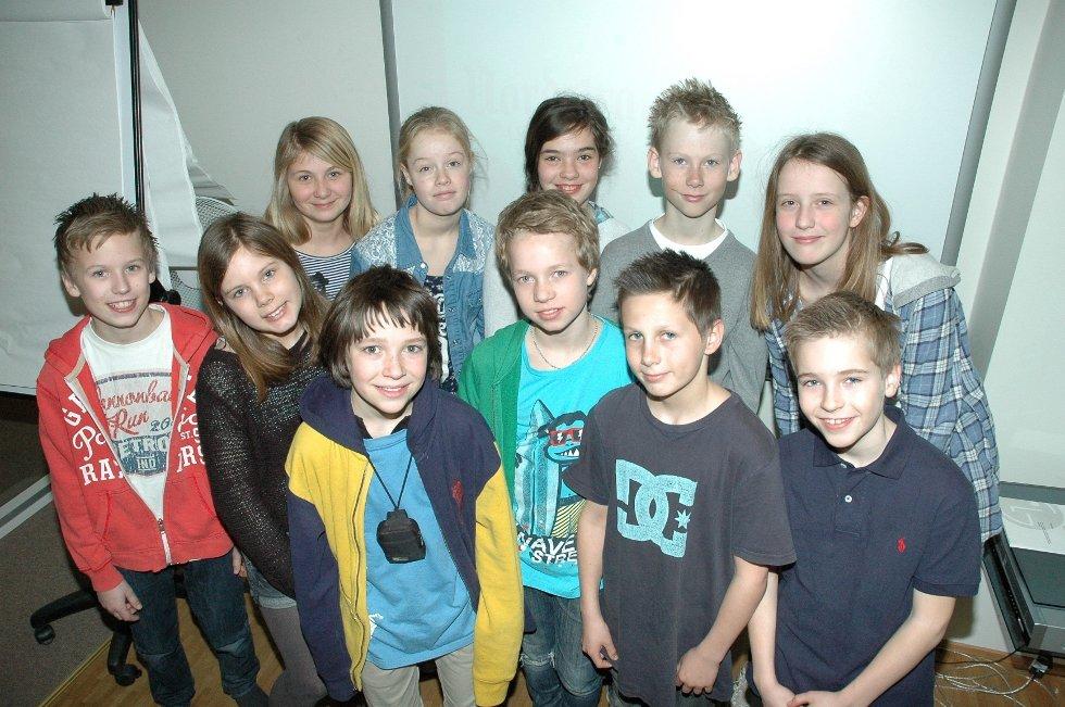 Elleve sjetteklassinger fra Ekeberg var onsdag hos Nordstrands Blad for å lære å lage avis.