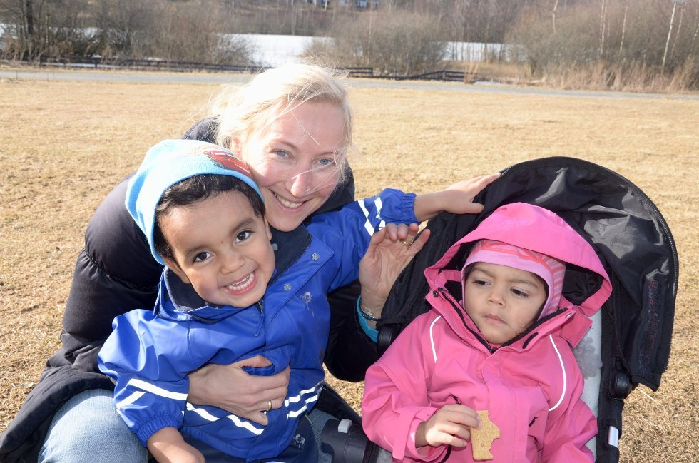 IKKE BEKYMRET: Hege Anita Bakkejord har såpass store barn at hun regner med at de får plass i hovedopptaket.