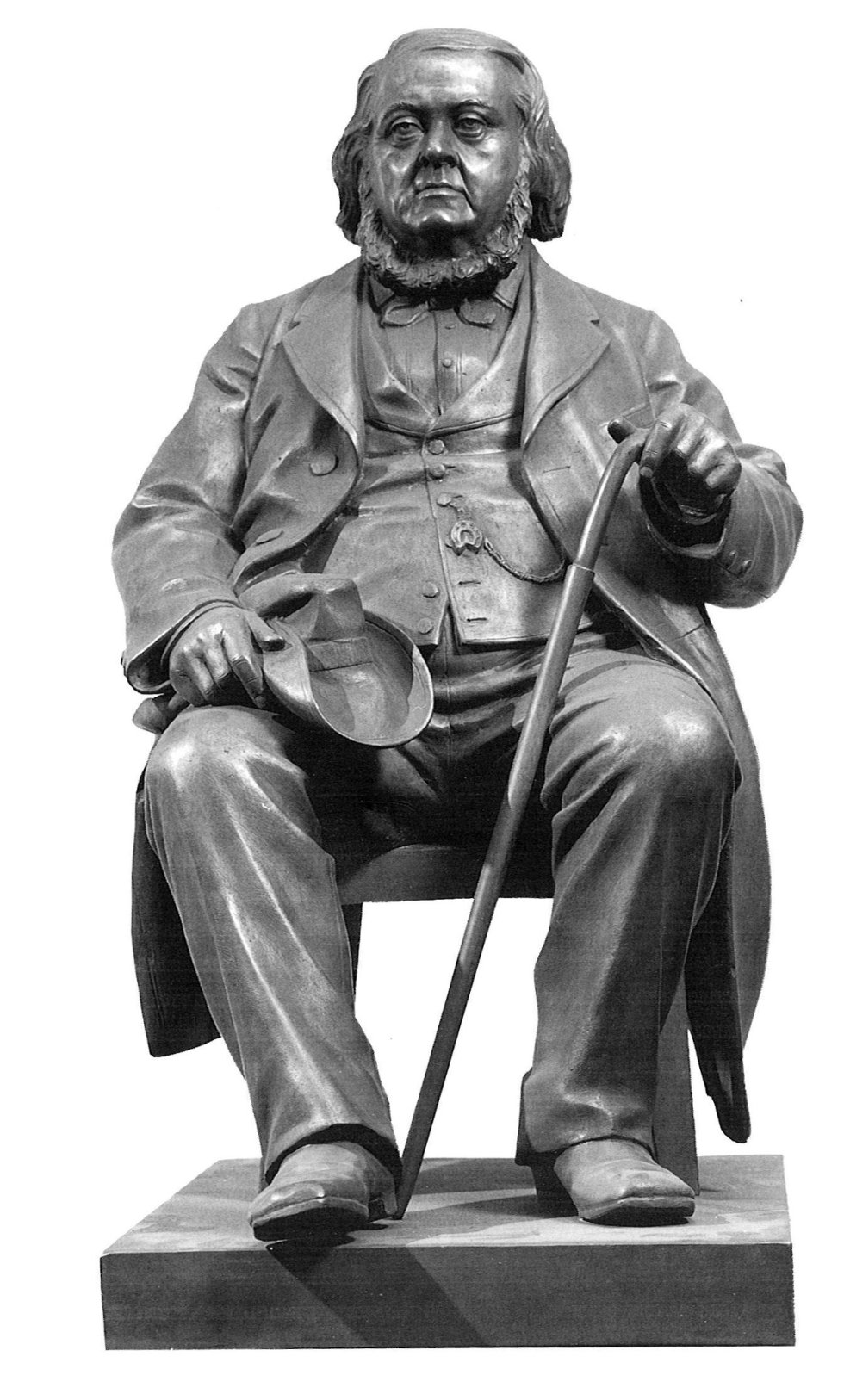 Statue av Peter Chr. Asbjørnsen, laget i 1885 av den norske billedhuggeren Brynjulf Bergslien (1830-1898). KLIKK PÅ BILDET FOR Å SE NESTE BILDE