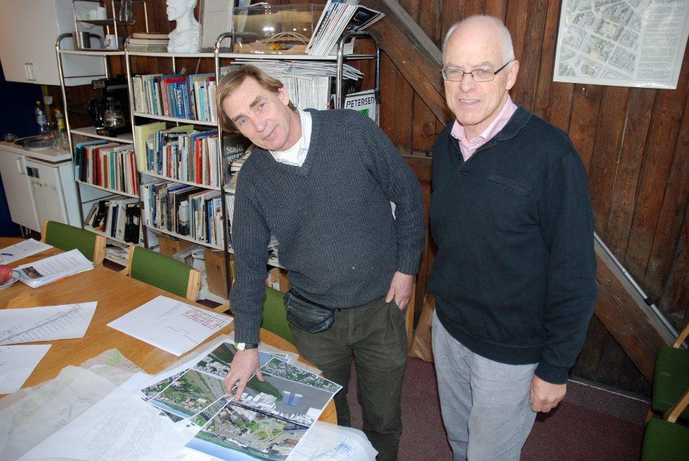 PLANSMIE: Arne Sødal og Audun Engh håper at Plansmie-forslaget blir tatt på alvor av politikerne.