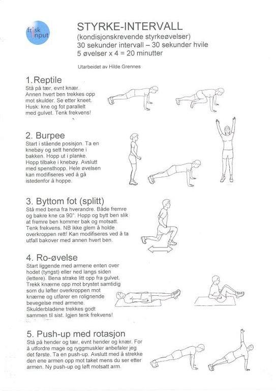 TRENINGSDAG-BOOK: Her er et eksempel på tips som trener Hilde Grennes la ut på Facebook-gruppen.