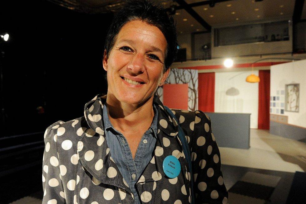 Hilde Fiskum fra Teater Ibsen var på utkikk etter et teaterstykke for de aller yngste barna under Markedet for scenekunst. Foto: Olaf Akselsen