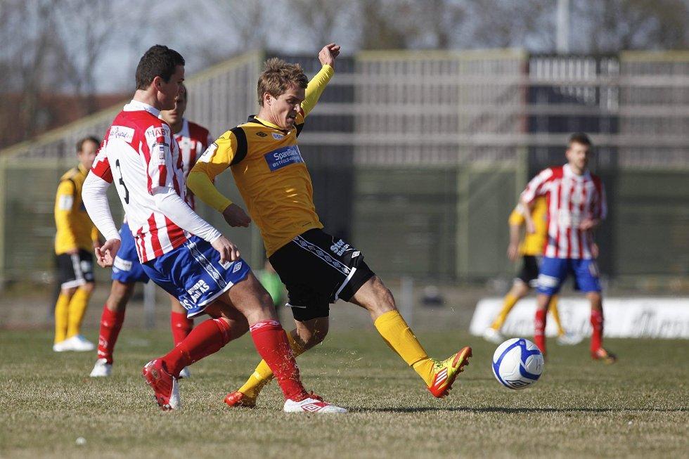 Rekruttlaget til Moss FK møtte Kvik Halden tirsdag. Det endte med poengdeling. Her fra et tidligere oppgjør mellom førstelagene til Østfold-konkurrentene.