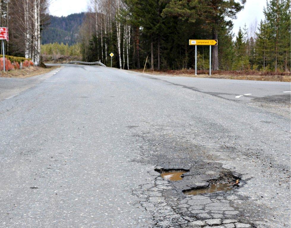 Fylkesvei 98 Vestsideveien (Foto: Ståle Weseth)