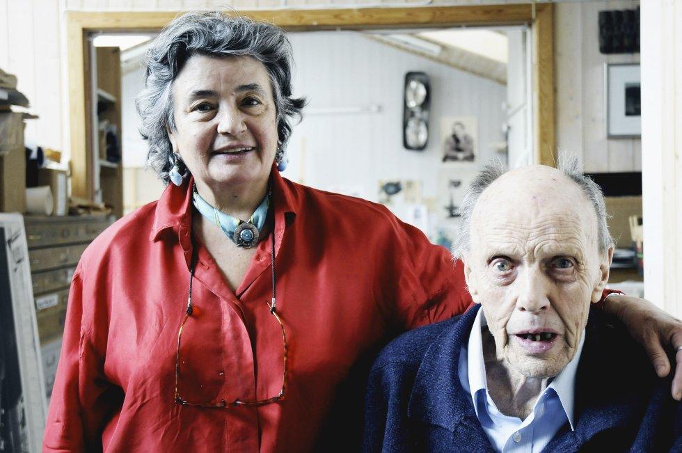 AKTIVE: Carl Nesjar og hans kone Sylvia Antoniou har stadig nye kunst- og bokprosjekter på gang.ARKIVFOTO: SARA SÆGROV RUUD