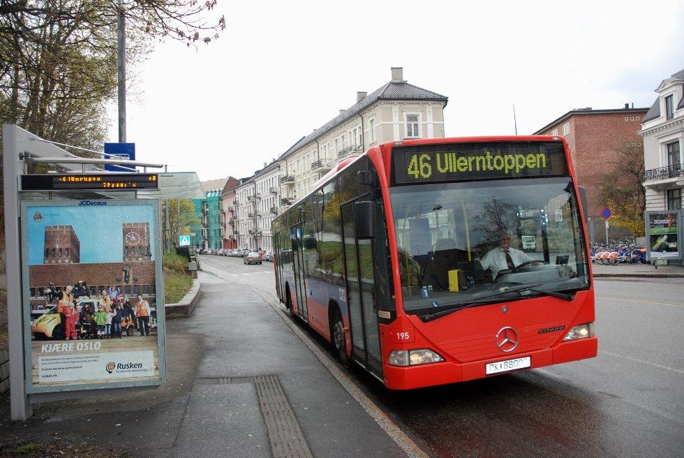 COLLETTS GATE: Her kjører ikke lenger 46-bussen fra søndag.