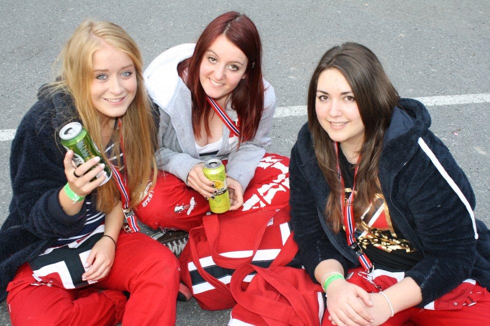 Kristine Larsen, Rikke Cameron Hansen og Nora Caitri.