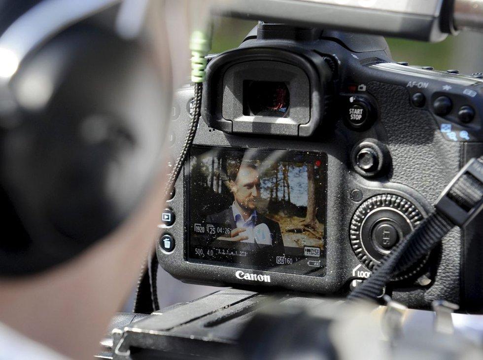 En fotograf har sikret seg et skarpt bilde av kronprinsen.
