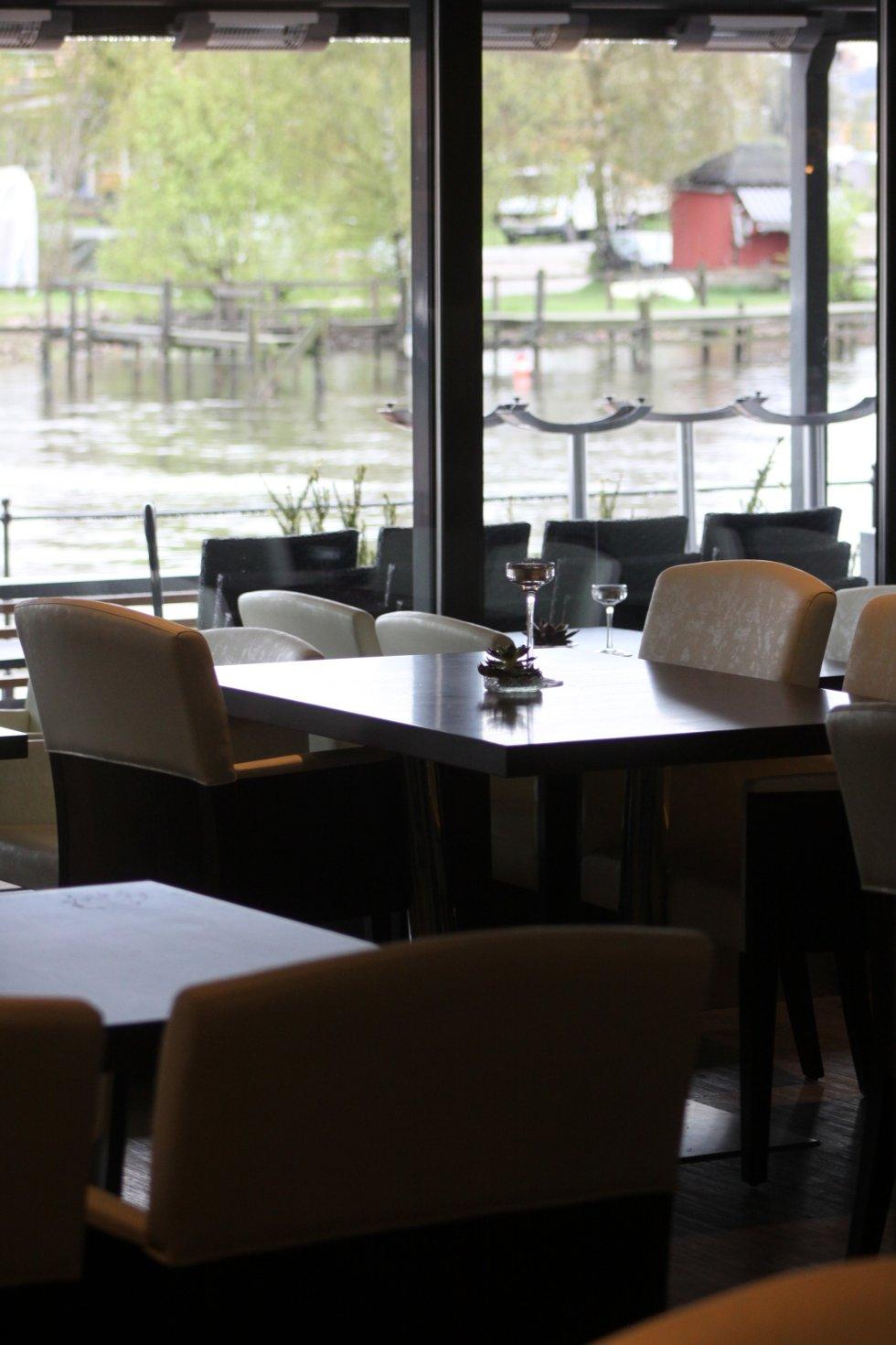 """Interiør fra """"Restaurant 13"""" som skal driftes av kjendiskokk Michael Moore."""
