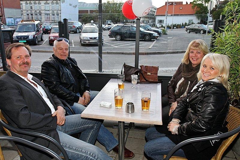 Jan Erik,Terje,Heidi og Rita (Foto: Harry Johansson)