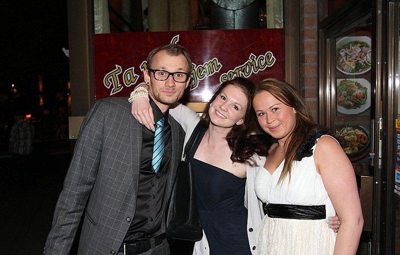 Henrik,Christine og Hege (Foto: Harry Johansson)