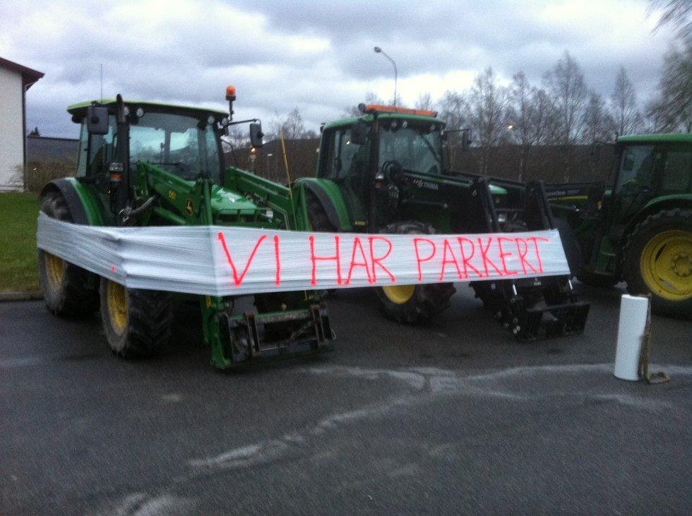 Også i Rendal var det aksjon.  (Foto: Privat)