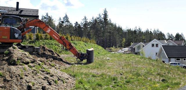 FRA LAMMERS VEI: Rådmannen legger opp til denne løsningen imellom husene her, etter at Fylkesmannen viser til en europeisk landskapskonvensjon.