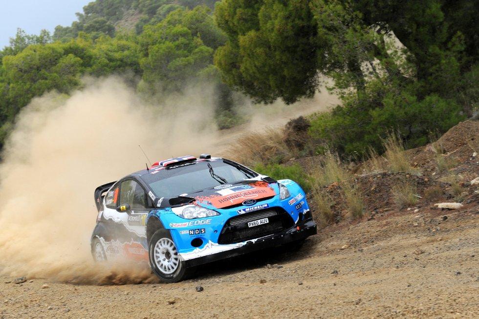 Etter én etappe ligger Mads Østberg og kartleser Jonas Andersson på fjerdeplass i Rally Acropolis.
