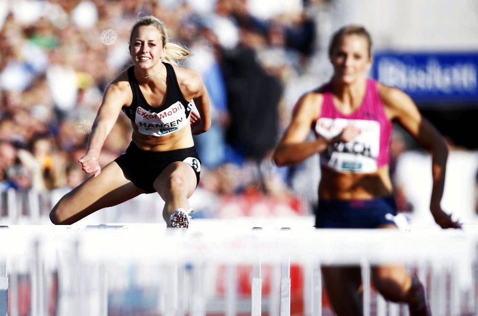 Ida Bakke Hansen løp inn til 14,19 på 100 meter hekk under Bislett Games. FOTO: DIGITALSPORT