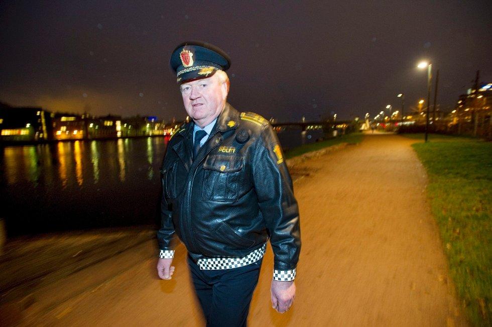Ordenssjef Dag Ebbestad ved Drammen politistasjon.