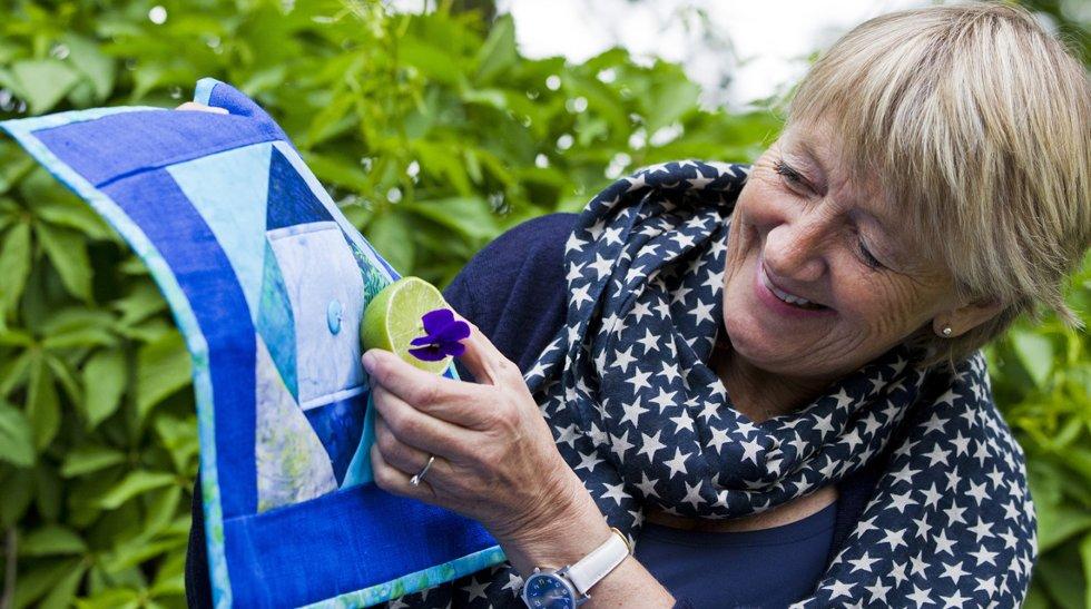 Blått gjør det lett å matche, mener Grete Gulliksen Moe.
