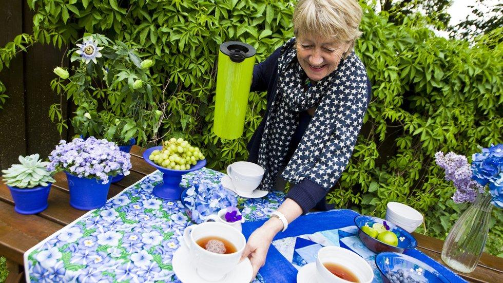 Samler du sammen det du har av blått, har du et godt utgangspunkt for hygge, mener Grete Gulliksen Moe.