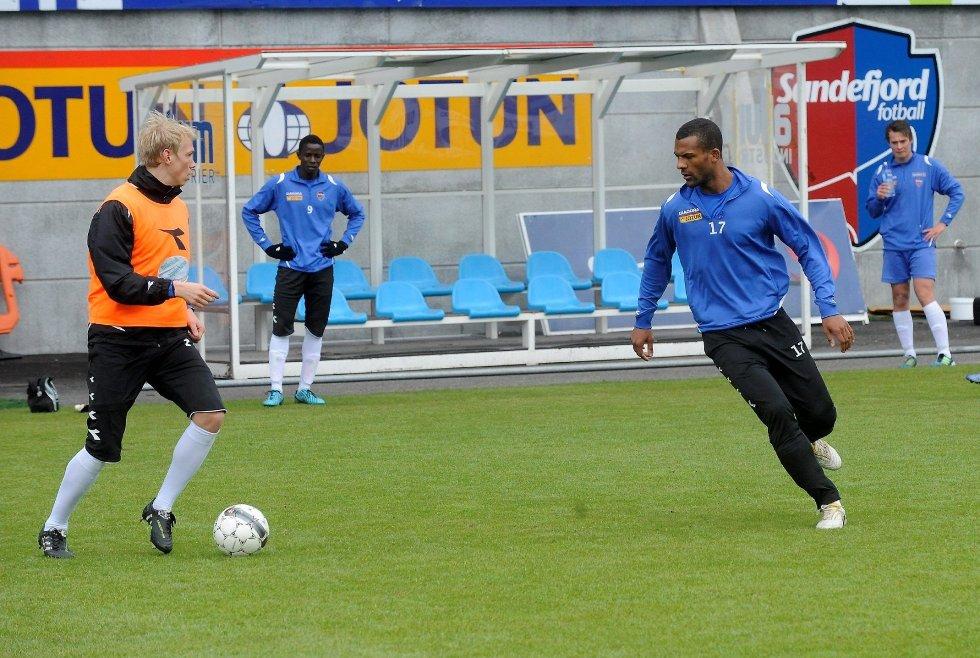 SFs solide stopperpar Alexander Gabrielsen og Yaw Ihle Amankwah ble skadet på treningen denne uka, og kan bli borte fra fotballbanen i mange uker. Arkivfoto: Anders Mehlum Hasle