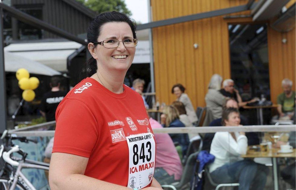 Mona Wike vant over kreften og løper Kristinaløpet. Foto: Harald Strømnæs