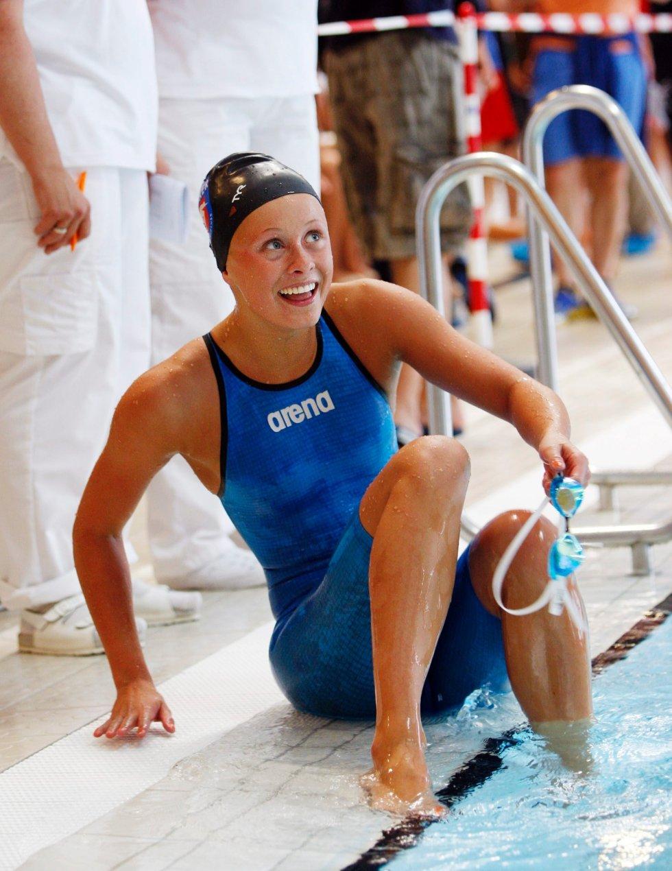 NYTT GULL: Elise Næss Olsen tok gull på 100 meter butterfly i juniorklassen. FOTO: TORE GURIBY