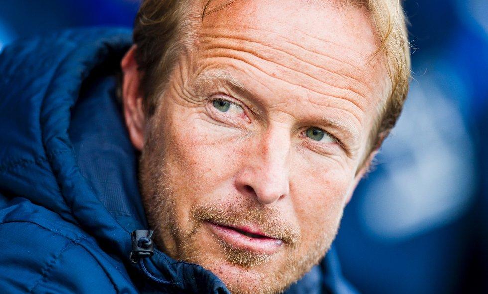 Sandnes Ulf trener Asle Andersen før eliteseriekampen i fotball mellom Strømsgodset og Sandnes Ulf på Marienlyst stadion i Drammen mandag kveld. Kampen endte 2-1.