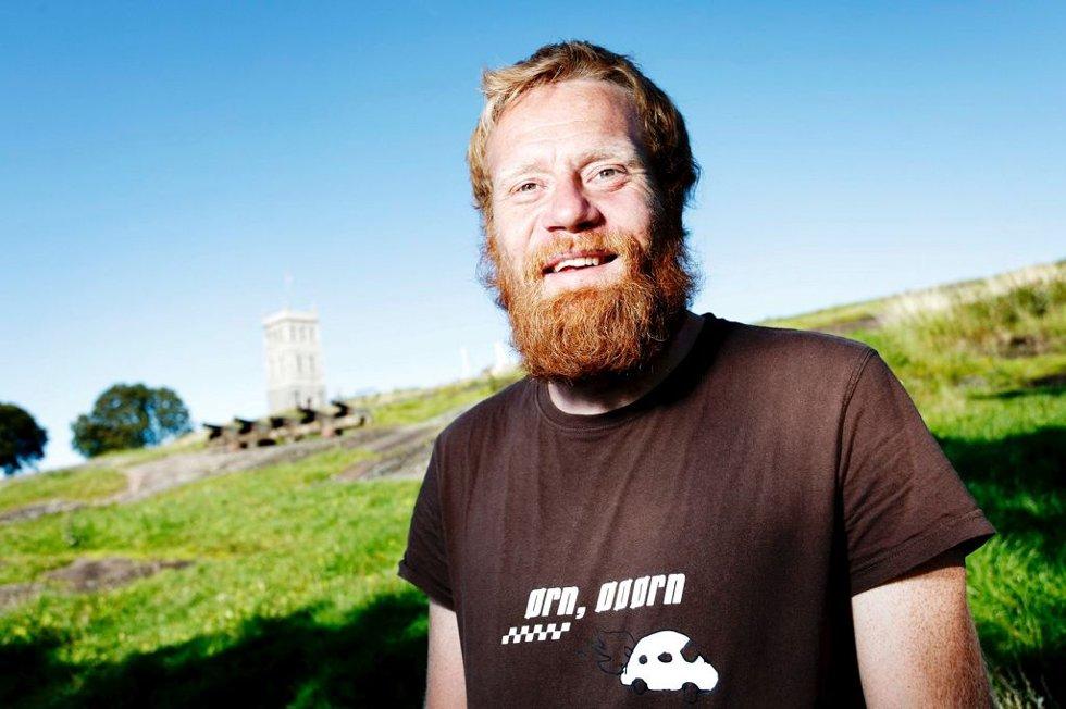 POSITIVT: Festivalsjef Christoffer Rød er strålende fornøyd med årets festival.Foto: Eric Johannessen