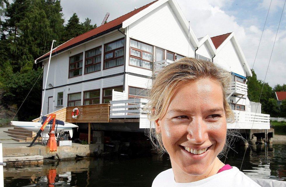 OL-SEILER: Marthe Enger Eide fra Stabekk er Norges eneste kvinnelige seiler i OL. FOTO: KARL BRAANAAS
