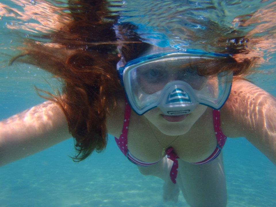 Elise vømmer i Rødehavet.