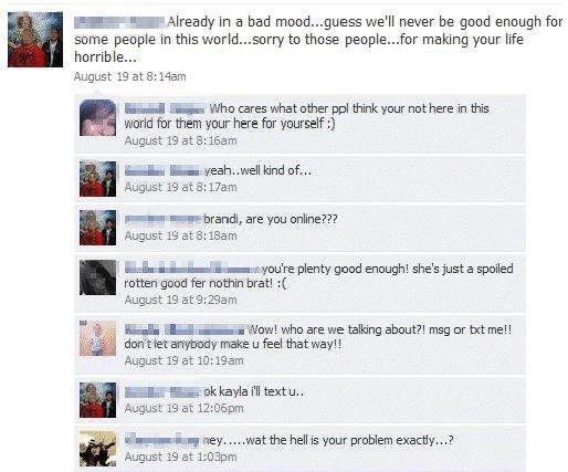«SPOILED AND ROTTEN»: Vertsmoren ga Hagen hard medfart på Facebook etter å ha snoket i dagboken hennes.      Foto: Facebook