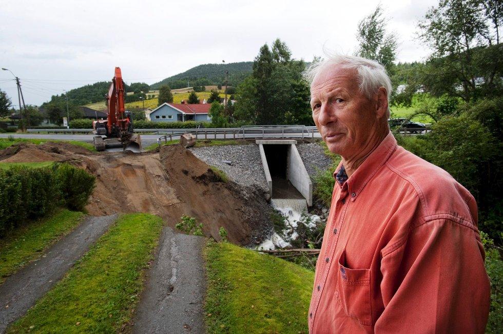 Slik så det ut på gårdsplassen til Tord Clausen i Øvre Eiker.