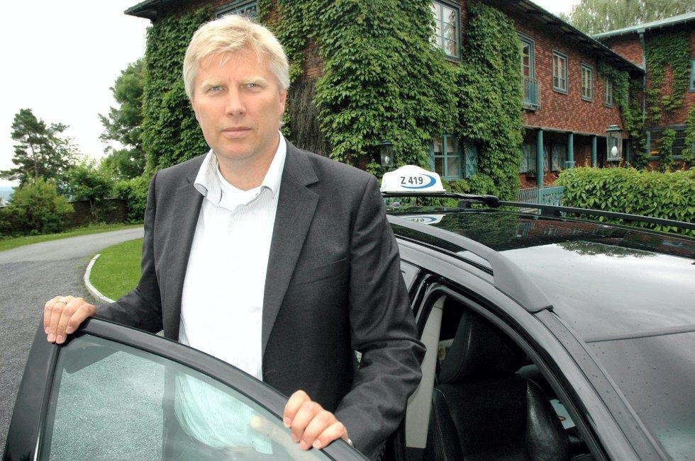 Daglig leder Erik Horn i Vestfold Taxi. Foto: Paal Even Nygaard