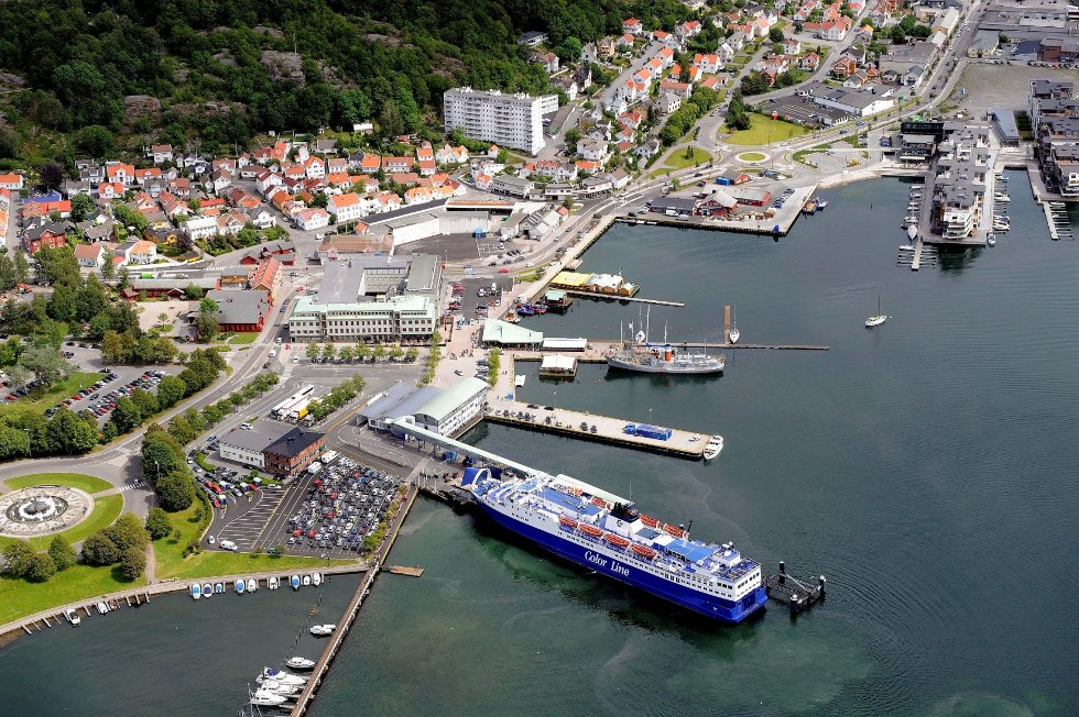 Sandefjord havn slik den ser ut i dag. Color Lines ønsker nå dialog med kommunen for å drøfte nødvendige endringer i forbindelse med ny og større ferje.Arkivfoto: Olaf Akselsen