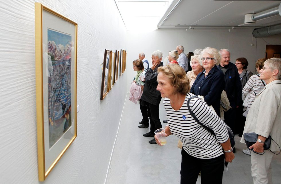 FULLT HUS: Utstilling med tresnitt av Munch og Astrup åpner i Bærum Kusntforening.                  FOTO: KNUT BJERKE                                   (Foto: )