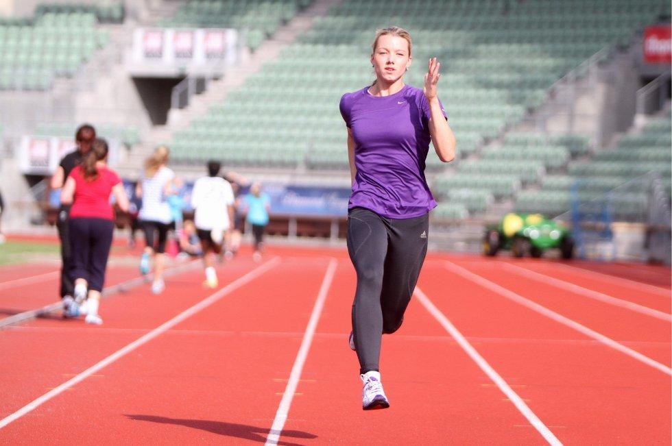 KLAR: Alvilde er topp motivert for sin første hele sesong på friidrettsbanen.