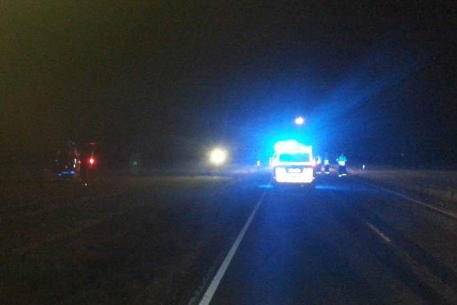 Det var sent tirsdag kveld at mc-føreren kjørte av veien syd for Høk kro.
