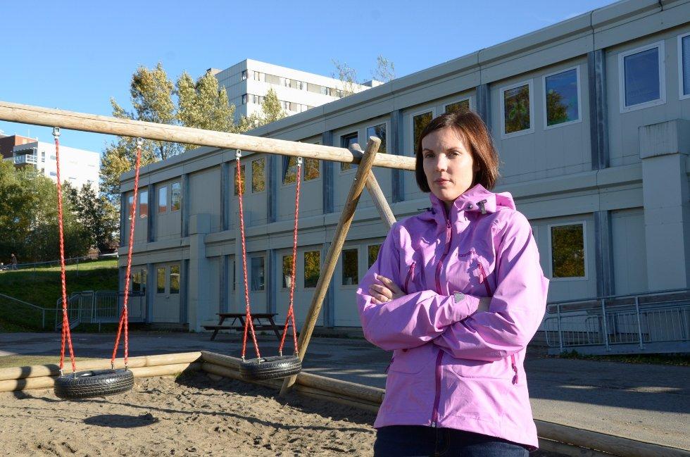 BEKYMRET: Foreldrerepresentant Hilde Haraldseid-Lund i Rønningjordet barnehage mener at Bydel Østensjø setter kvantitet foran kvalitet i sin jakt på flere barnehageplasser.FOTO: NINA SCHYBERG OLSEN